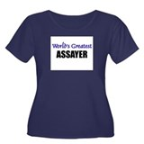 Worlds Greatest ASSAYER Women's Plus Size Scoop Ne