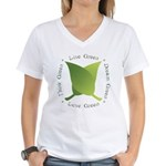 Live Green Think Green Women's V-Neck T-Shirt