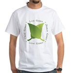 Live Green Think Green White T-Shirt