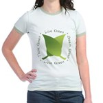 Live Green Think Green Jr. Ringer T-Shirt