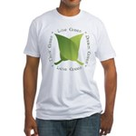 Live Green Think Green Fitted T-Shirt