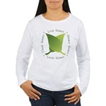Live Green Think Green Women's Long Sleeve T-Shirt