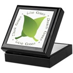 Live Green Think Green Keepsake Box