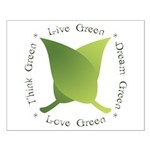 Live Green Think Green Small Poster