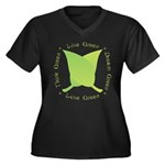 Live Green Think Green Women's Plus Size V-Neck Da