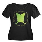 Live Green Think Green Women's Plus Size Scoop Nec