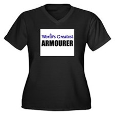 Worlds Greatest ARMOURER Women's Plus Size V-Neck