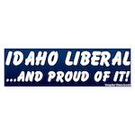 Proud Idaho Liberal Bumper Sticker