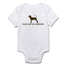 Black and Tan Coonhound (brow Infant Bodysuit
