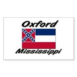 Oxford Mississippi Rectangle Decal