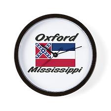 Oxford Mississippi Wall Clock