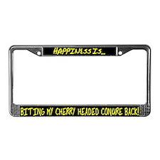 HI Biting Cherry Headed Conure License Plate Frame