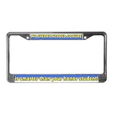 Hnr Student Cherry Head Conure License Plate Frame