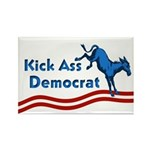 Rectangular Kick Ass Democrat Magnet