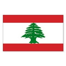 Lebanese Flag Rectangle Decal