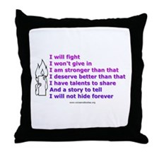 Voices - Not Bodies Throw Pillow