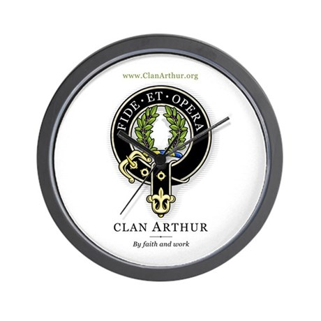 Clan Arthur Wall Clock