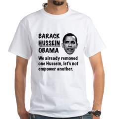 Barack Hussein Obama White T-Shirt