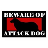 Beware of Attack Dog Kuvasz Decal