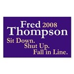 Fred Thompson 2008 Bumper Sticker