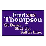 Fred Thompson 2008 Bumper Sticker