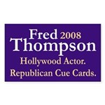 Fred 2008 Cue Card Actor Sticker