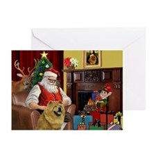 Santa's Chow Chow Greeting Cards (Pk of 20)