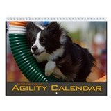 Border Collie Agility Tire Jump Wall Calendar