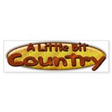 Country Western Bumper Car Sticker