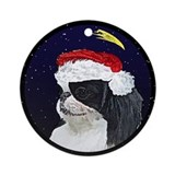 Japanese chin Round Ornaments