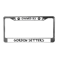 Owned by Gordon Setters License Plate Frame
