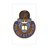 Chaplain Crest Rectangle Decal