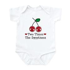 Doubly Sweet Cherry Twin Onesie