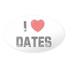 I * Dates Oval Decal