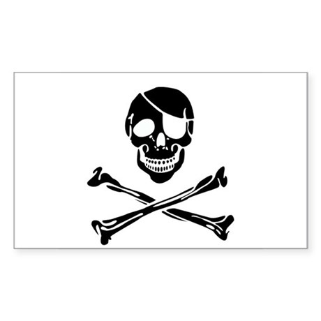 Skull Rectangle Sticker