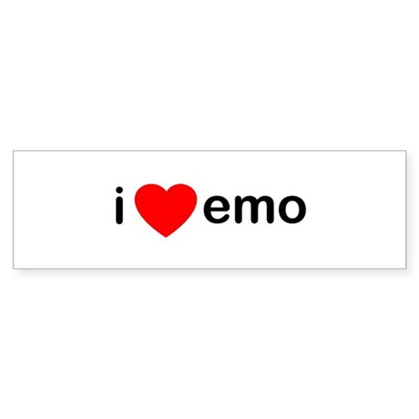 I Heart Emo Bumper Sticker