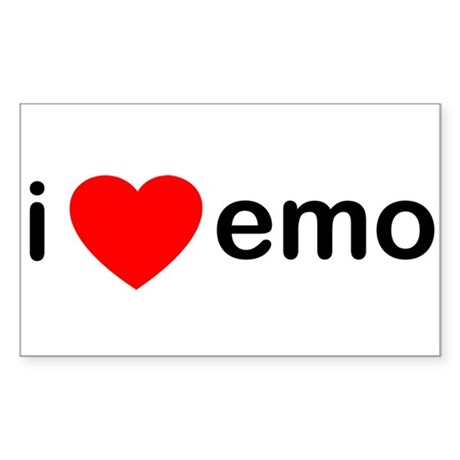 I Heart Emo Rectangle Sticker