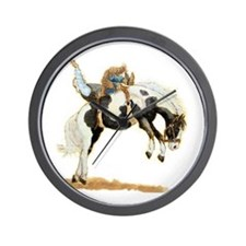 Bareback Bronc, Paint Wall Clock