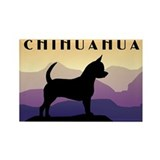 Chihuahua Purple Mountains Rectangle Magnet