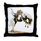 Bareback Bronc, Paint Throw Pillow