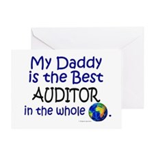 Best Auditor In The World (Daddy) Greeting Card