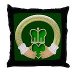 Golden Claddagh Throw Pillow