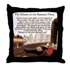 Mouse on the Barroom Floor Throw Pillow