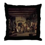 Irish Cottage Interior Throw Pillow