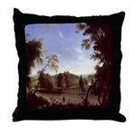 View of Curragh Chase Throw Pillow