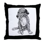 Merle Great Dane puppy in dots Throw Pillow