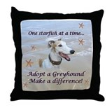Lorrie's Greyhound Starfish Throw Pillow
