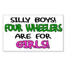 Silly Boys Quads Rectangle Decal