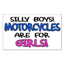 Silly Boys Motorcycles Rectangle Decal