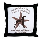 Starfish Story Greyhound Throw Pillow